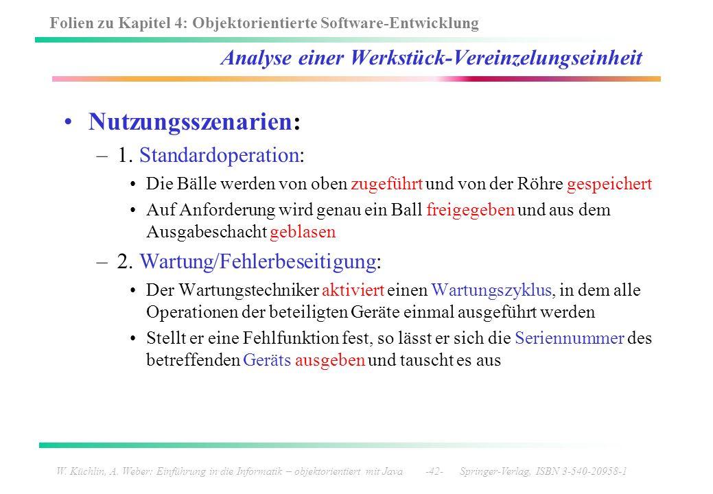 Folien zu Kapitel 4: Objektorientierte Software-Entwicklung W. Küchlin, A. Weber: Einführung in die Informatik – objektorientiert mit Java -42- Spring