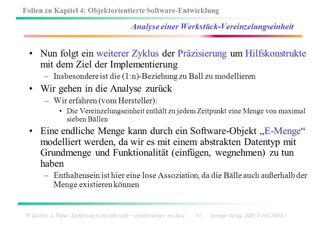 Folien zu Kapitel 4: Objektorientierte Software-Entwicklung W. Küchlin, A. Weber: Einführung in die Informatik – objektorientiert mit Java -47- Spring