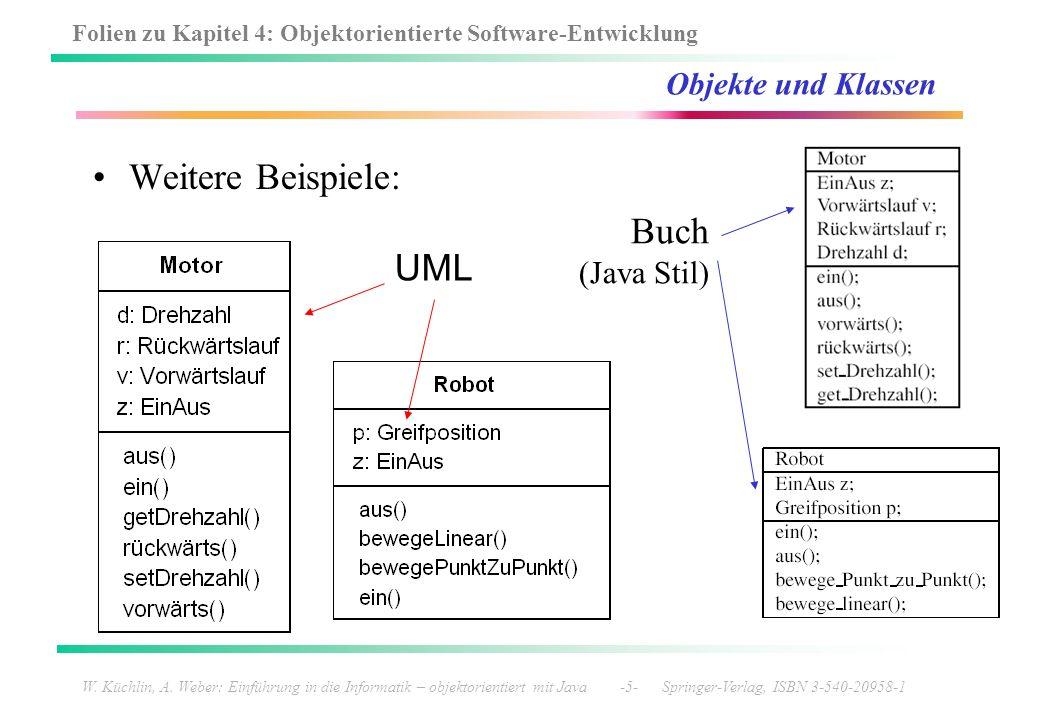 Folien zu Kapitel 4: Objektorientierte Software-Entwicklung W. Küchlin, A. Weber: Einführung in die Informatik – objektorientiert mit Java -5- Springe