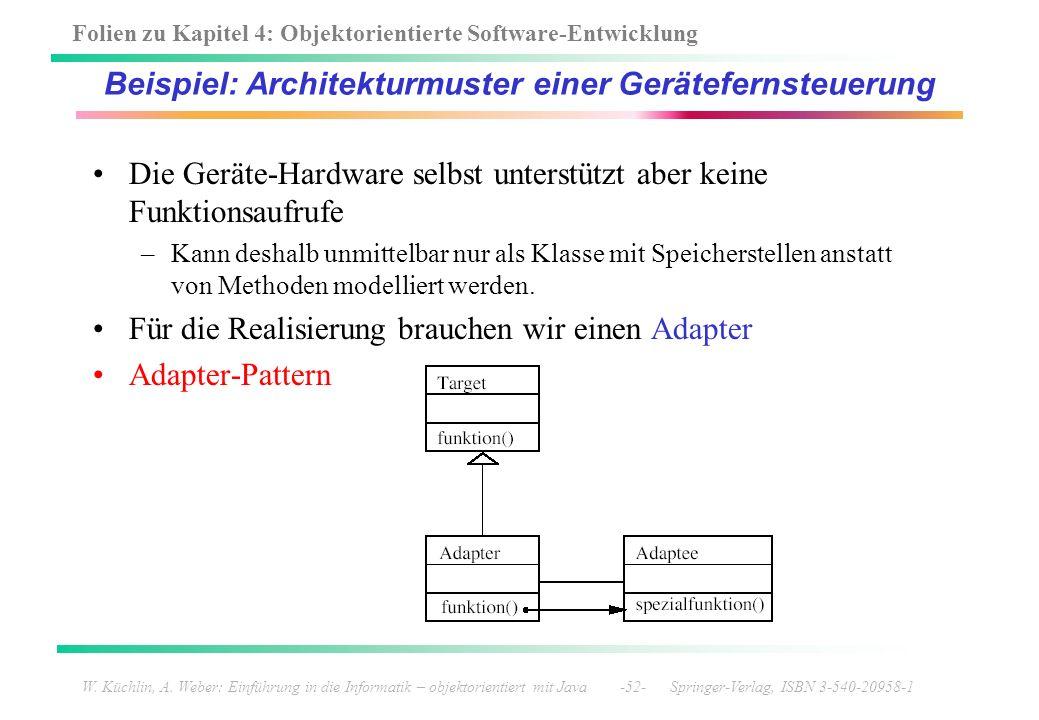 Folien zu Kapitel 4: Objektorientierte Software-Entwicklung W. Küchlin, A. Weber: Einführung in die Informatik – objektorientiert mit Java -52- Spring