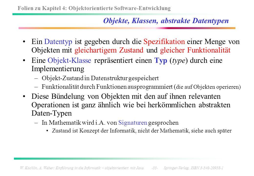 Folien zu Kapitel 4: Objektorientierte Software-Entwicklung W. Küchlin, A. Weber: Einführung in die Informatik – objektorientiert mit Java -55- Spring