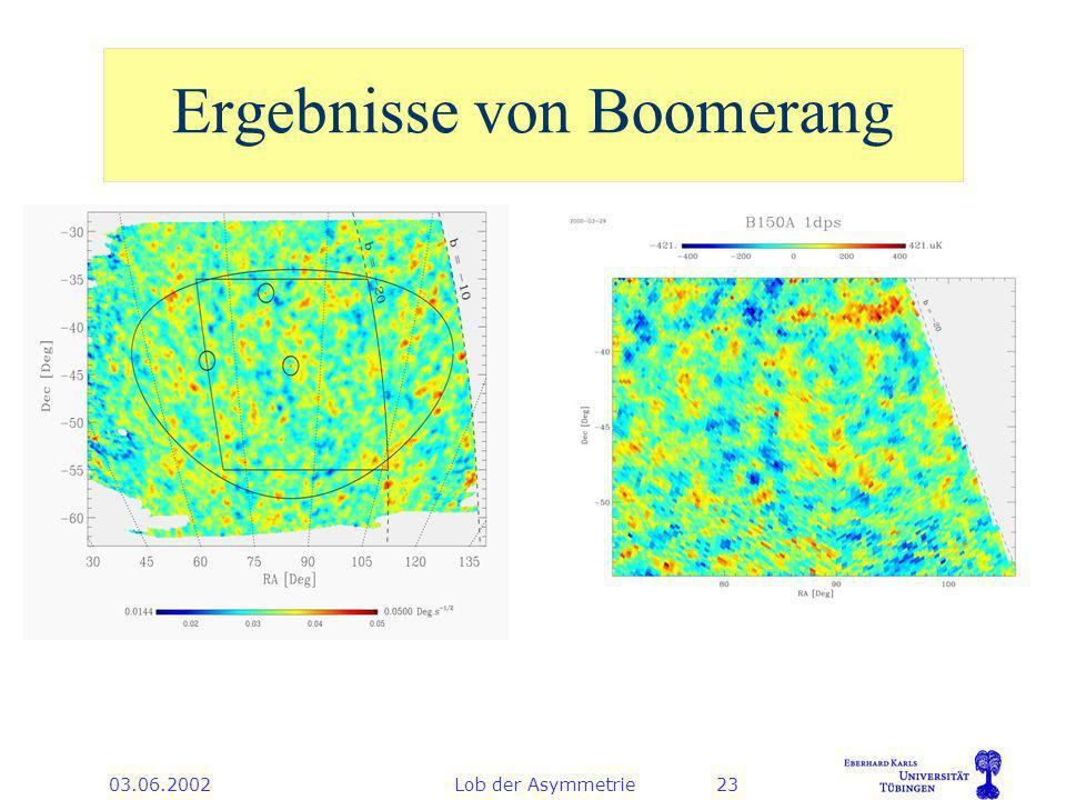 03.06.2002Lob der Asymmetrie23 Ergebnisse von Boomerang
