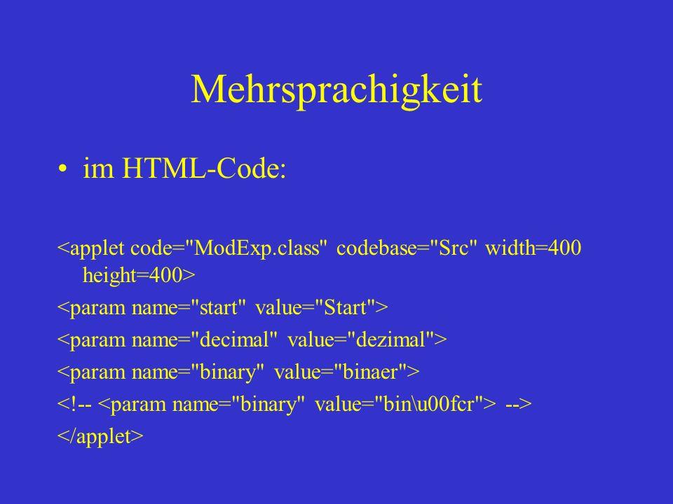 Mehrsprachigkeit im HTML-Code: -->