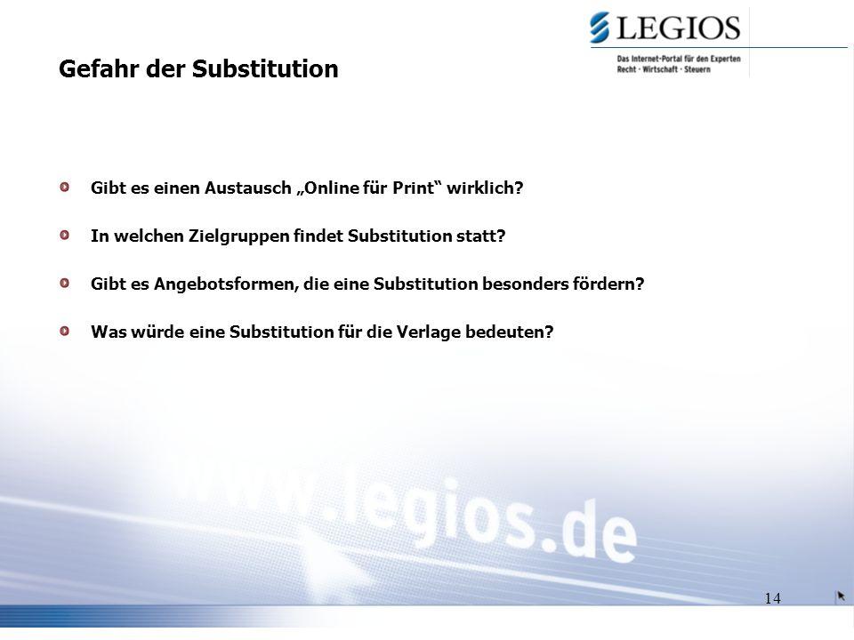 14 Gefahr der Substitution Gibt es einen Austausch Online für Print wirklich.