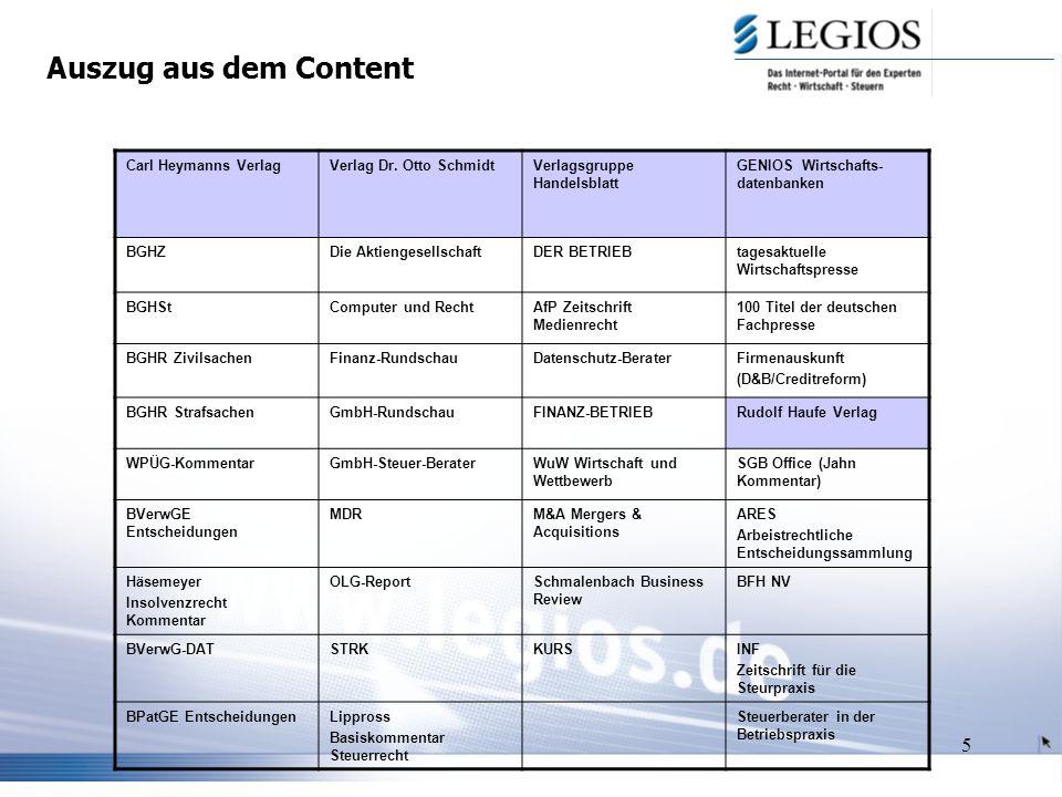 5 Auszug aus dem Content Carl Heymanns VerlagVerlag Dr.