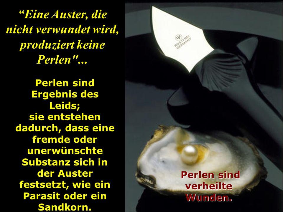 Im Innern der Muschel gibt es eine glänzende Substanz, das PERLMUTT.