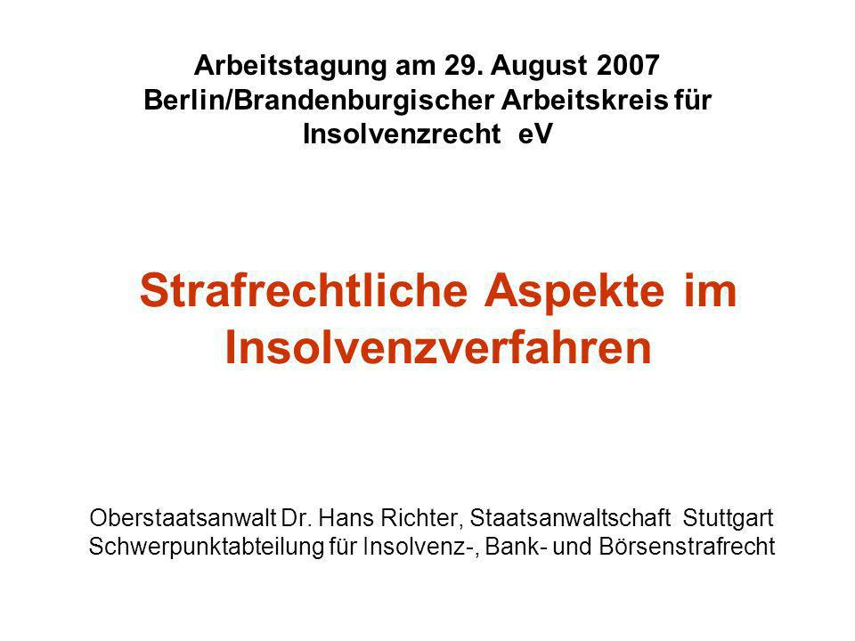 Dr.Hans Richter Insolvenzstrafrecht § 17 Abs.