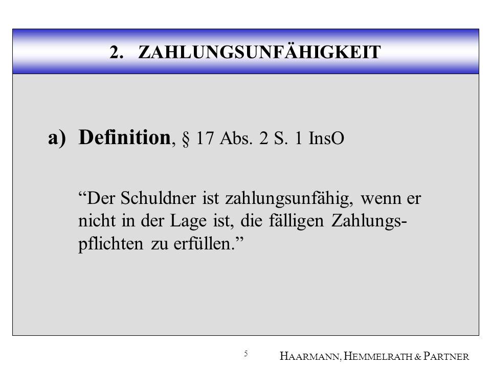 6 H AARMANN, H EMMELRATH & P ARTNER 2.