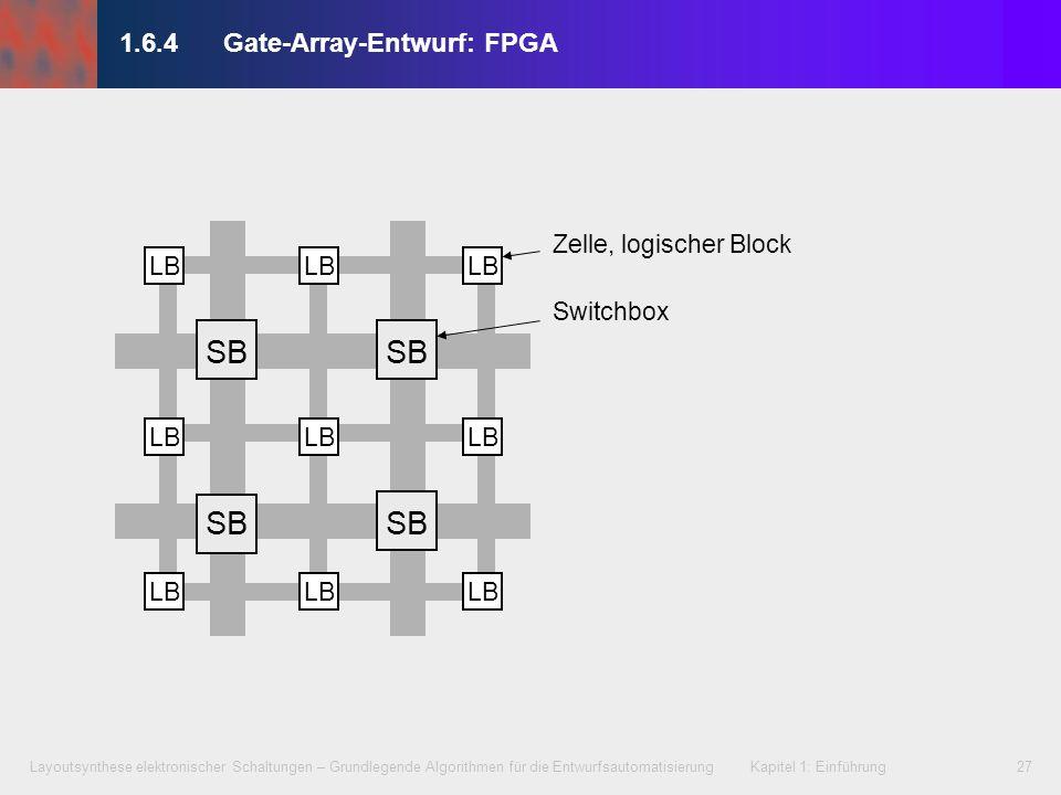 Layoutsynthese elektronischer Schaltungen – Grundlegende Algorithmen für die Entwurfsautomatisierung Kapitel 1: Einführung27 1.6.4Gate-Array-Entwurf: