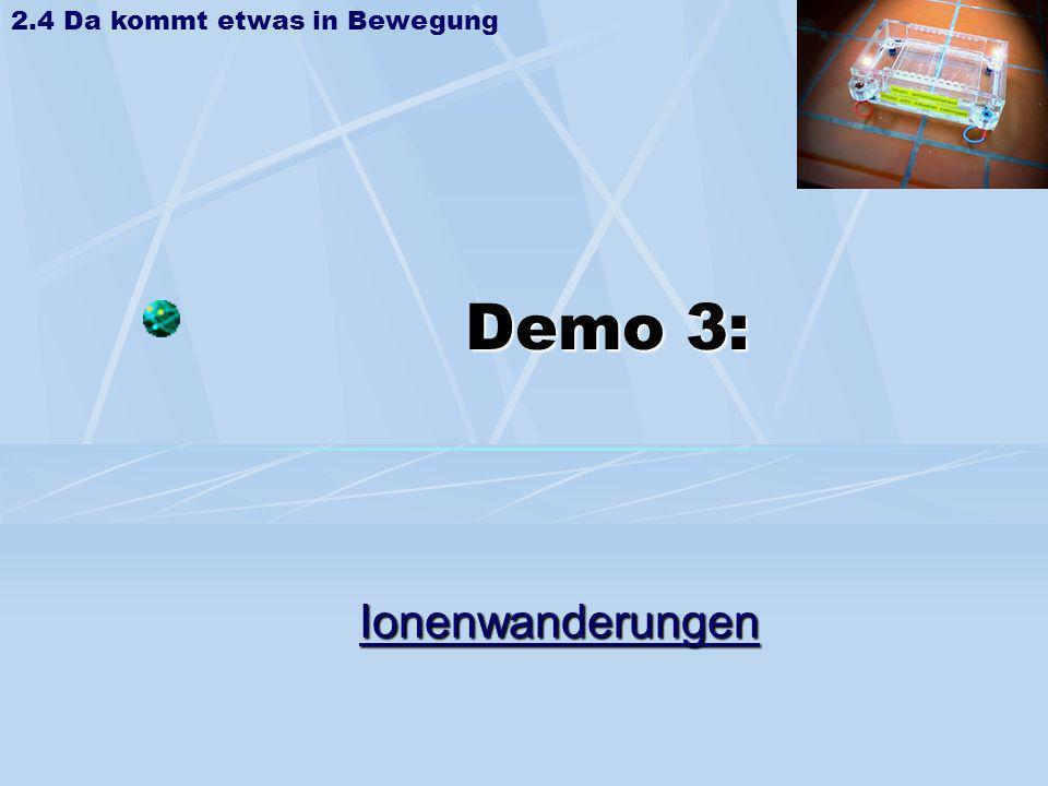 Demo 3: Ionenwanderungen 2.4 Da kommt etwas in Bewegung