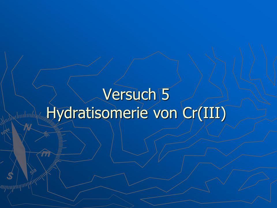 Versuch 5 Hydratisomerie von Cr(III)