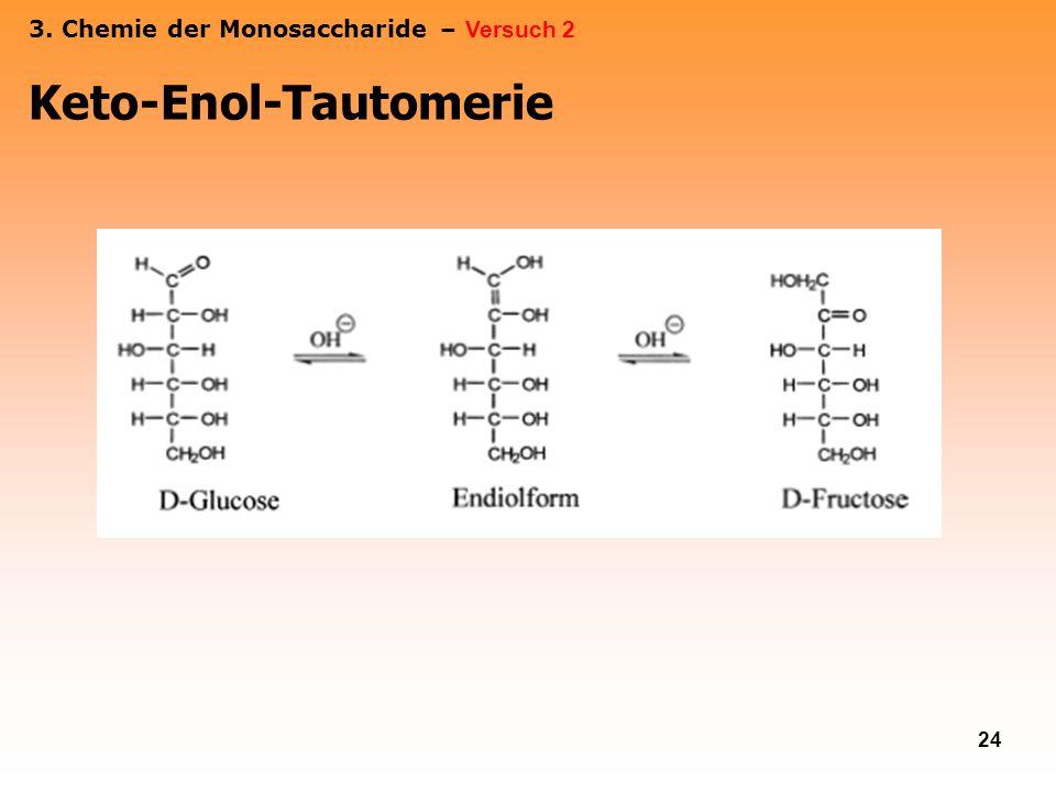 24 Keto-Enol-Tautomerie 3. Chemie der Monosaccharide – Versuch 2