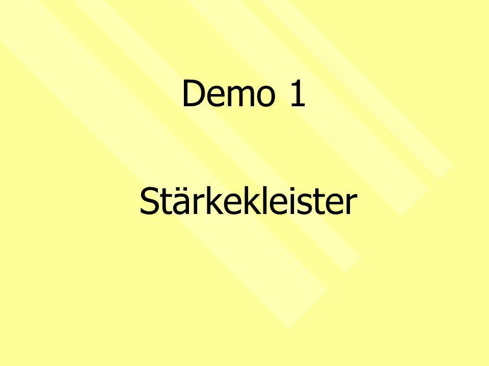 Demo 1 Stärkekleister