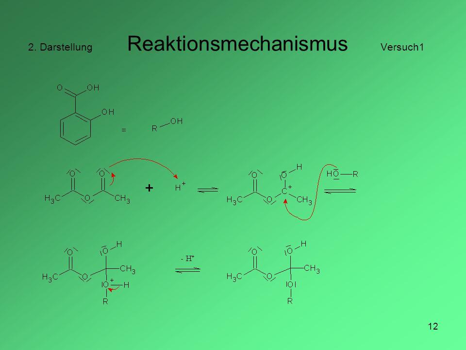 12 2. Darstellung Reaktionsmechanismus Versuch1