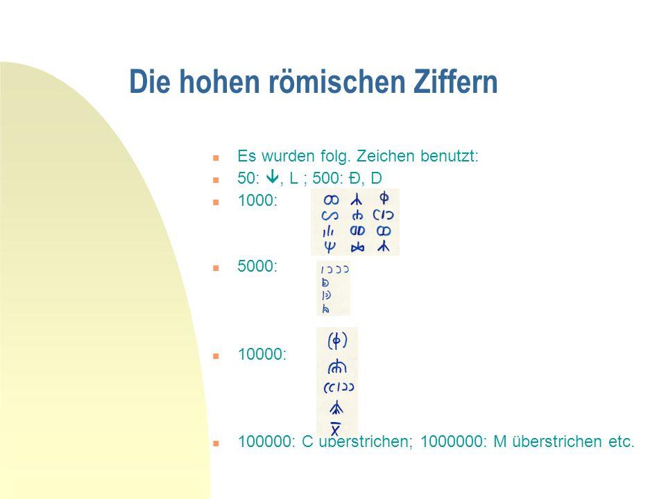 12/11/0511 Lateinische Zahlen von 200-1000000 200-ducenti,ae,a (alle 100er sind deklinierbar) 300-trecenti, 400-quadringenti, 500-quingenti,600-sescen