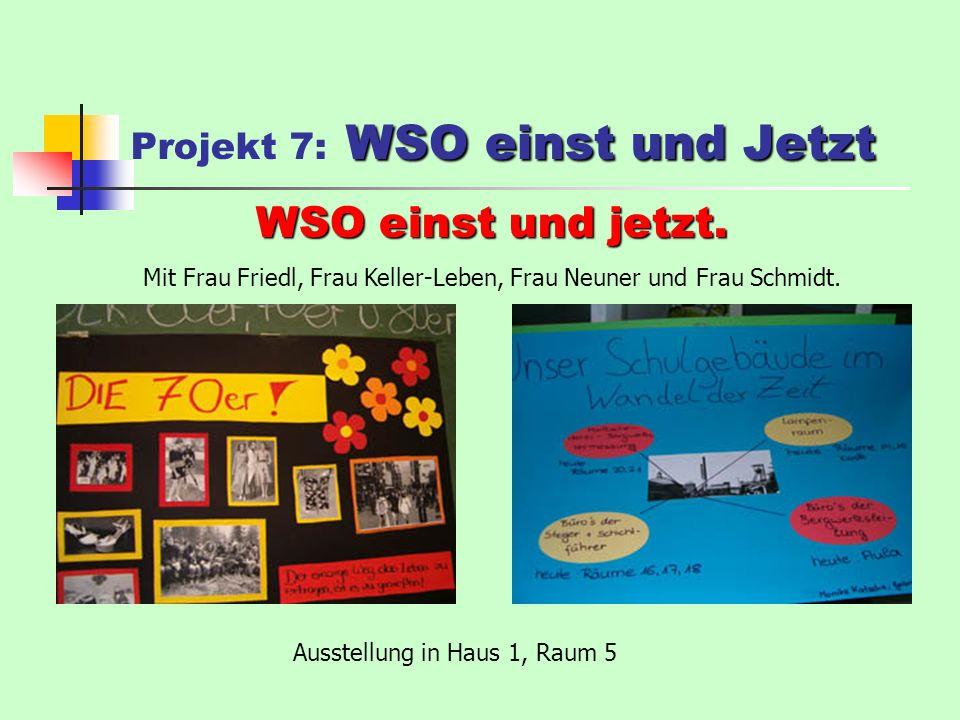 WSO einst und Jetzt Projekt 7: WSO einst und Jetzt WSO einst und jetzt.