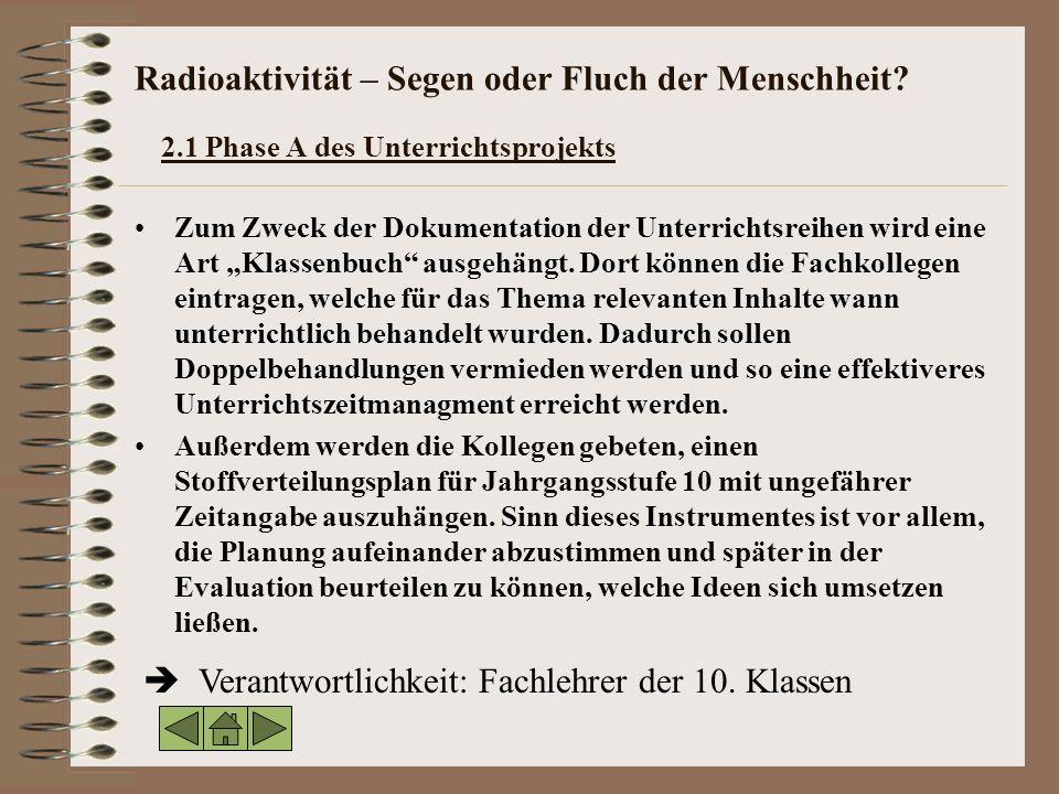Radioaktivität – Segen oder Fluch der Menschheit.