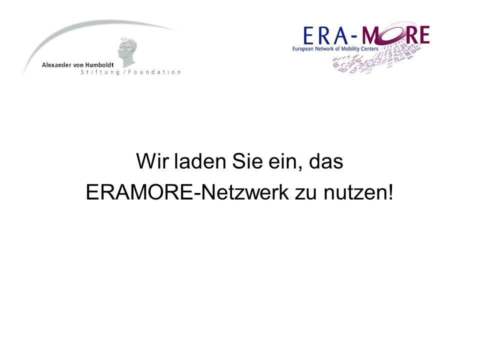 Wir laden Sie ein, das ERAMORE-Netzwerk zu nutzen!