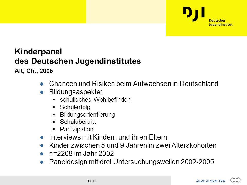 Zurück zur ersten SeiteSeite 2 Nürnberger Kinderpanel Bacher, J.
