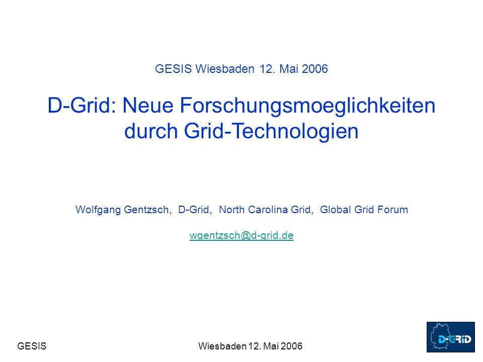 GESISWiesbaden 12.Mai 2006 GESIS Wiesbaden 12.
