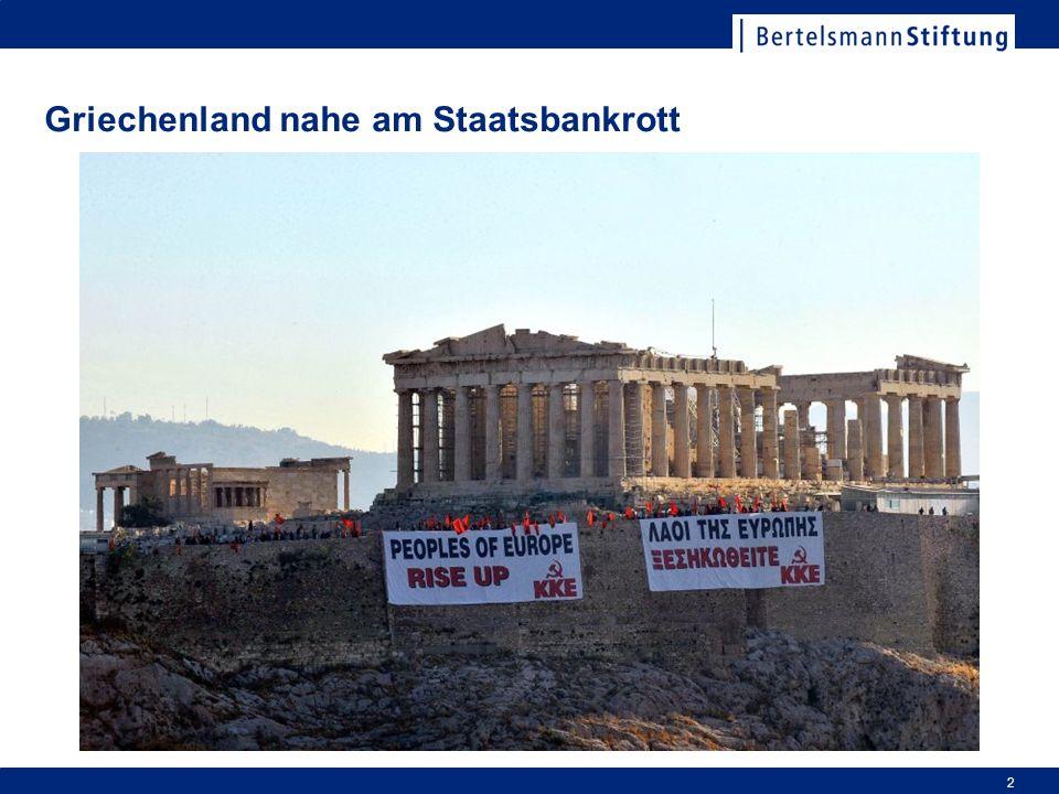 Griechenland nahe am Staatsbankrott 2