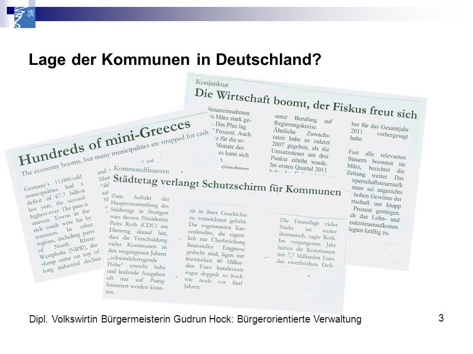 Lage der Kommunen in Deutschland. Dipl.