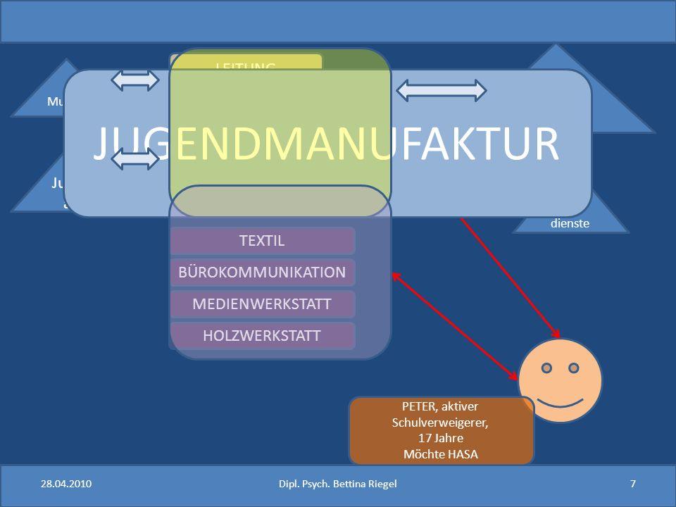 Hochkomplexes Vorgehen – erfordert klare Absprachen, maximale Transparenz und gegenseitiges Vertrauen 28.04.20108Dipl.