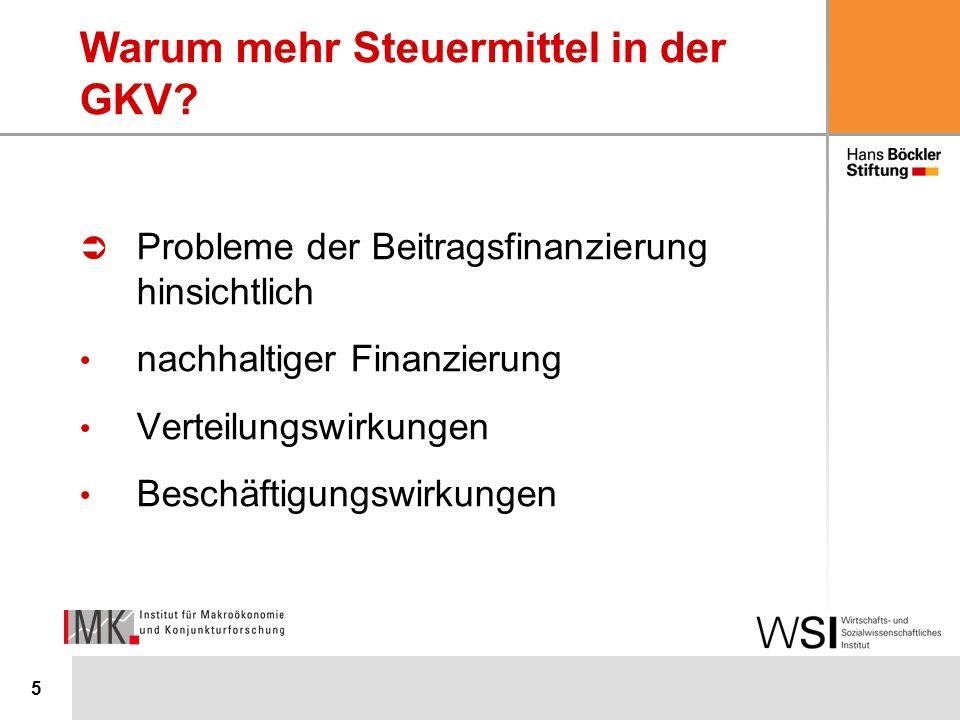 5 Warum mehr Steuermittel in der GKV.