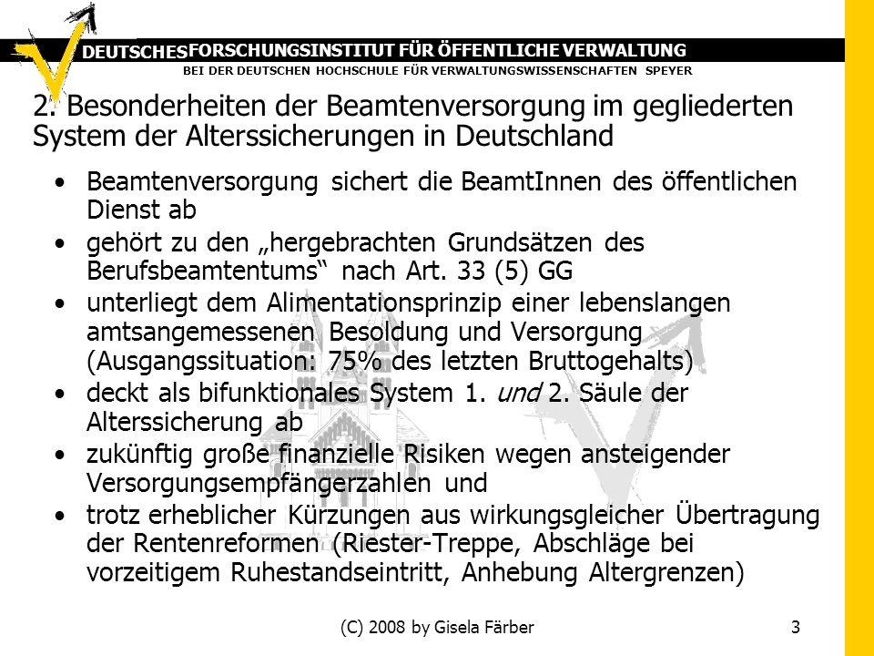 FORSCHUNGSINSTITUT FÜR ÖFFENTLICHE VERWALTUNG BEI DER DEUTSCHEN HOCHSCHULE FÜR VERWALTUNGSWISSENSCHAFTEN SPEYER DEUTSCHES (C) 2008 by Gisela Färber 3