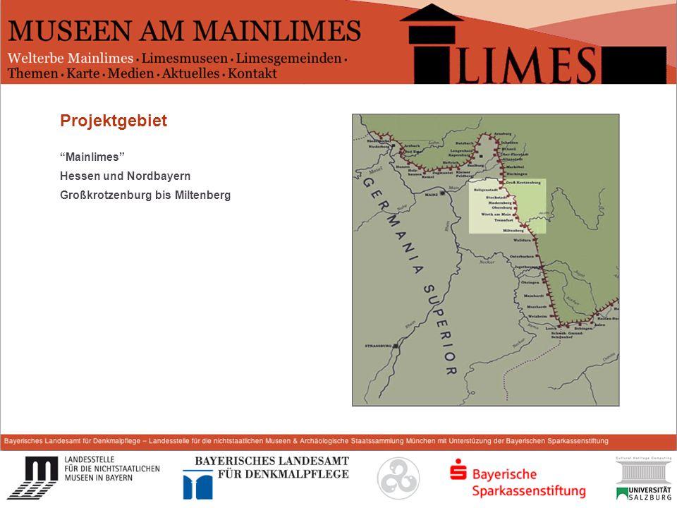 Start Projektgebiet Mainlimes Hessen und Nordbayern Großkrotzenburg bis Miltenberg