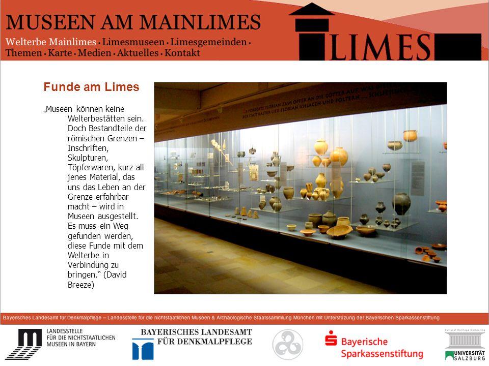Start Funde am Limes Museen können keine Welterbestätten sein. Doch Bestandteile der römischen Grenzen – Inschriften, Skulpturen, Töpferwaren, kurz al