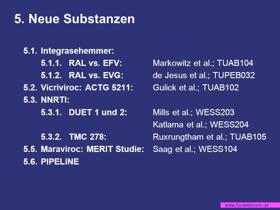 www.hivandmore.de 5.Neue Substanzen 5.1.Integrasehemmer: 5.1.1.RAL vs.
