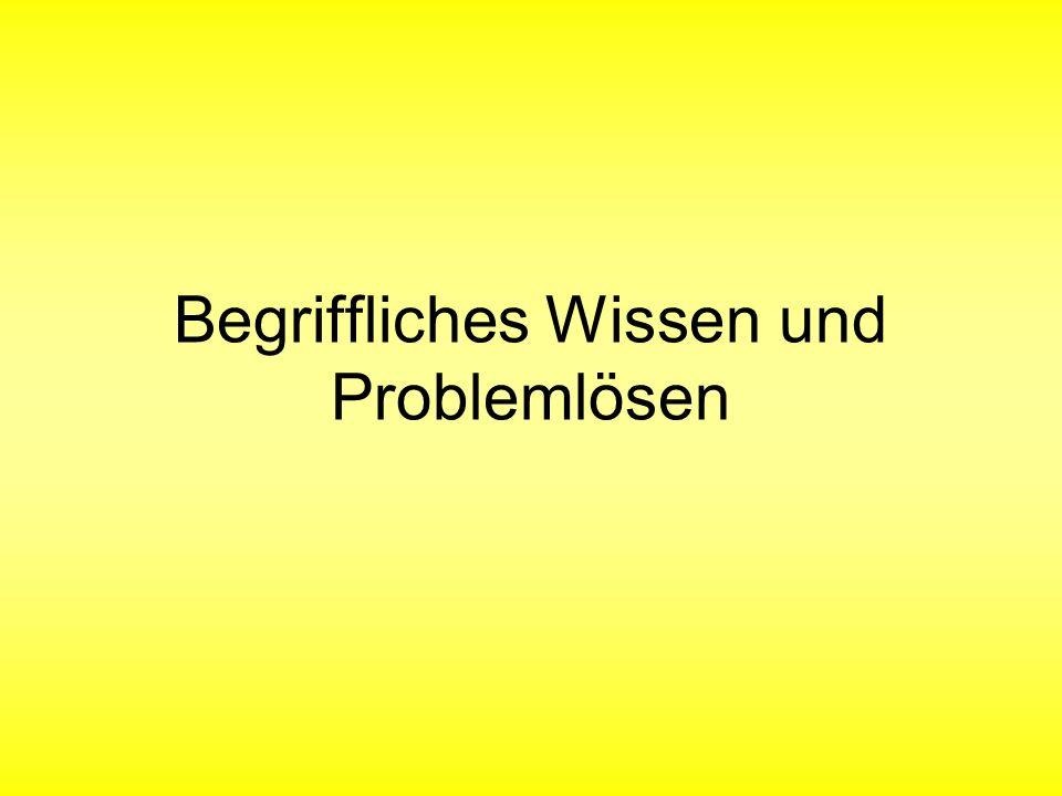 Begriffliches Wissen und Problemlösen