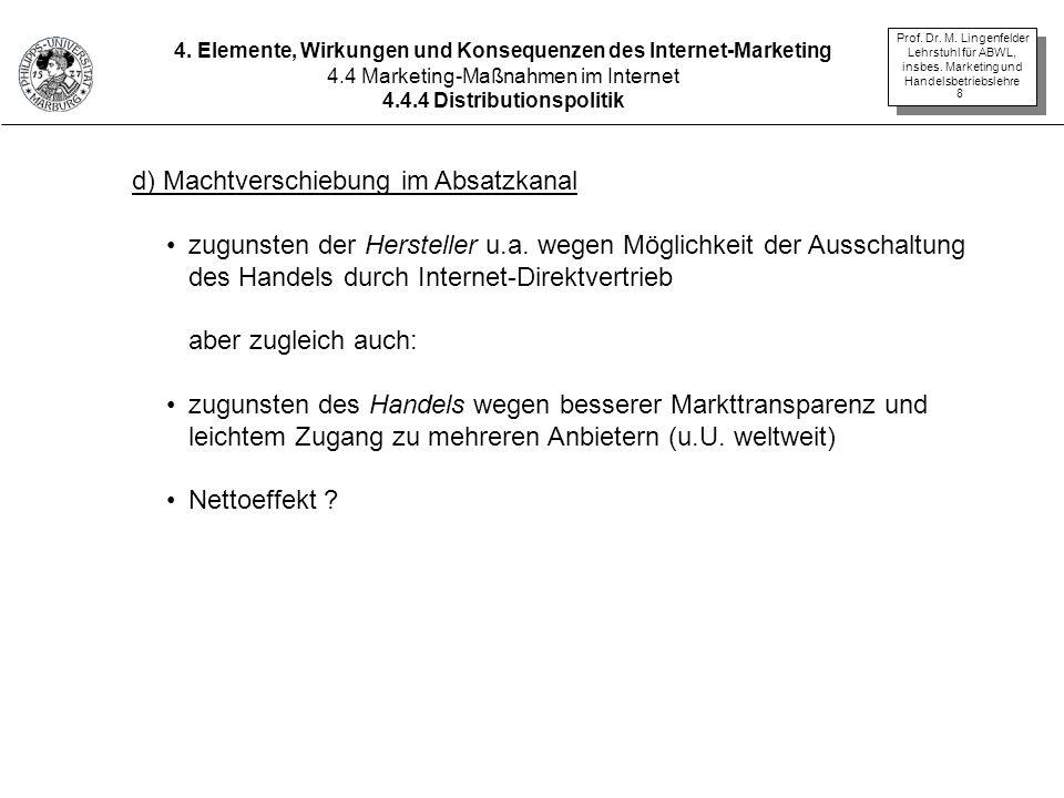 Prof.Dr. M. Lingenfelder Lehrstuhl für ABWL, insbes.
