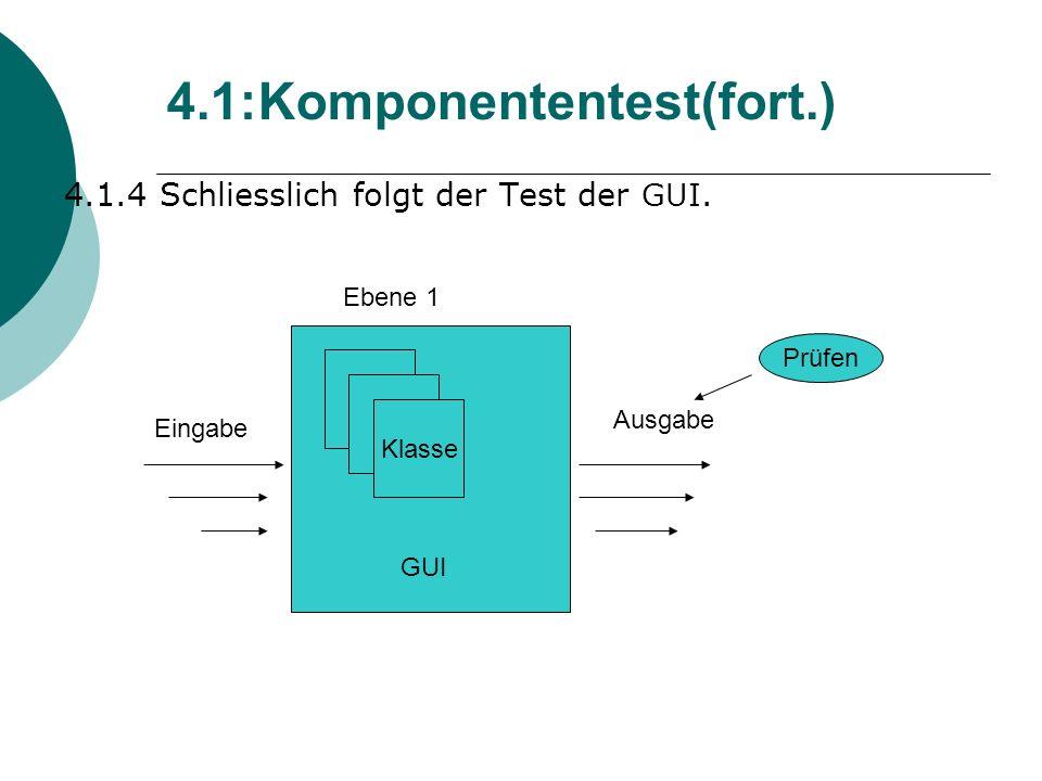 4.1.4 Schliesslich folgt der Test der GUI.