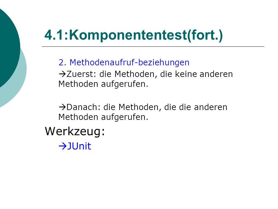 4.1:Komponententest(fort.) 2.