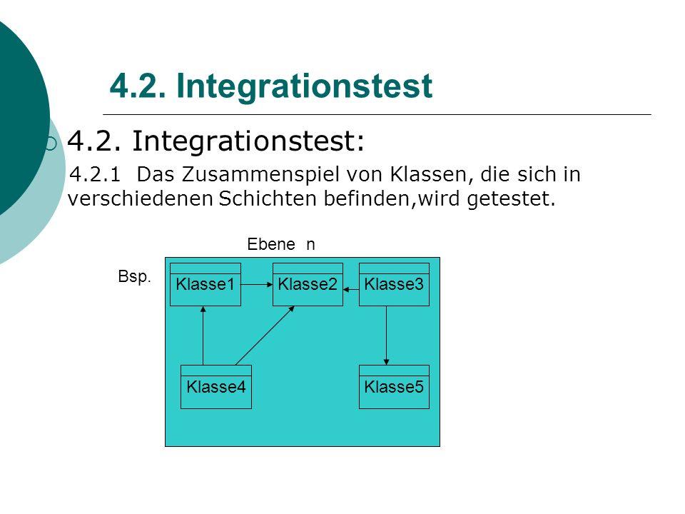 4.2.Integrationstest 4.2.