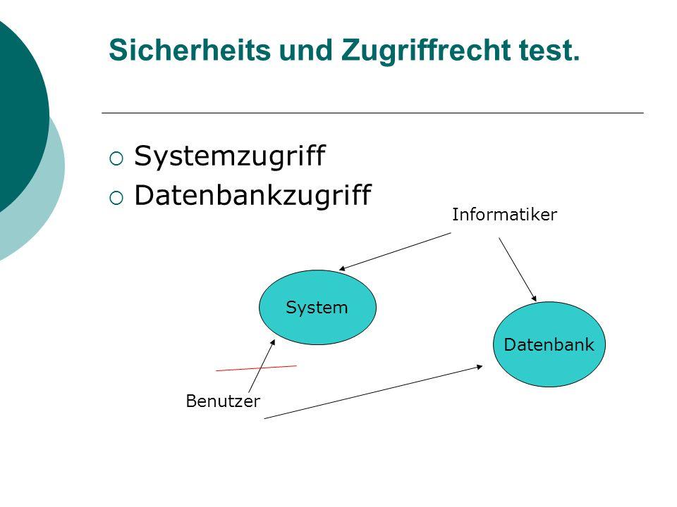 Sicherheits und Zugriffrecht test.