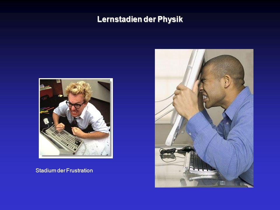 Stadium der Frustration Lernstadien der Physik