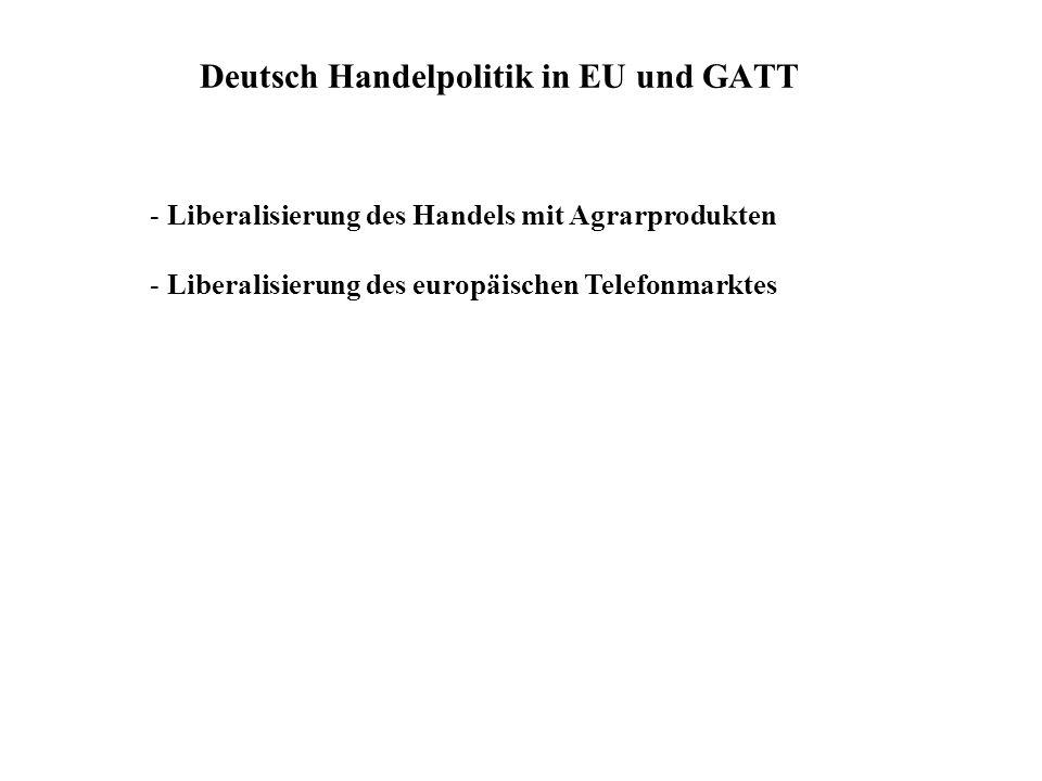 Deutsch Handelpolitik in EU und GATT - Liberalisierung des Handels mit Agrarprodukten - Liberalisierung des europäischen Telefonmarktes