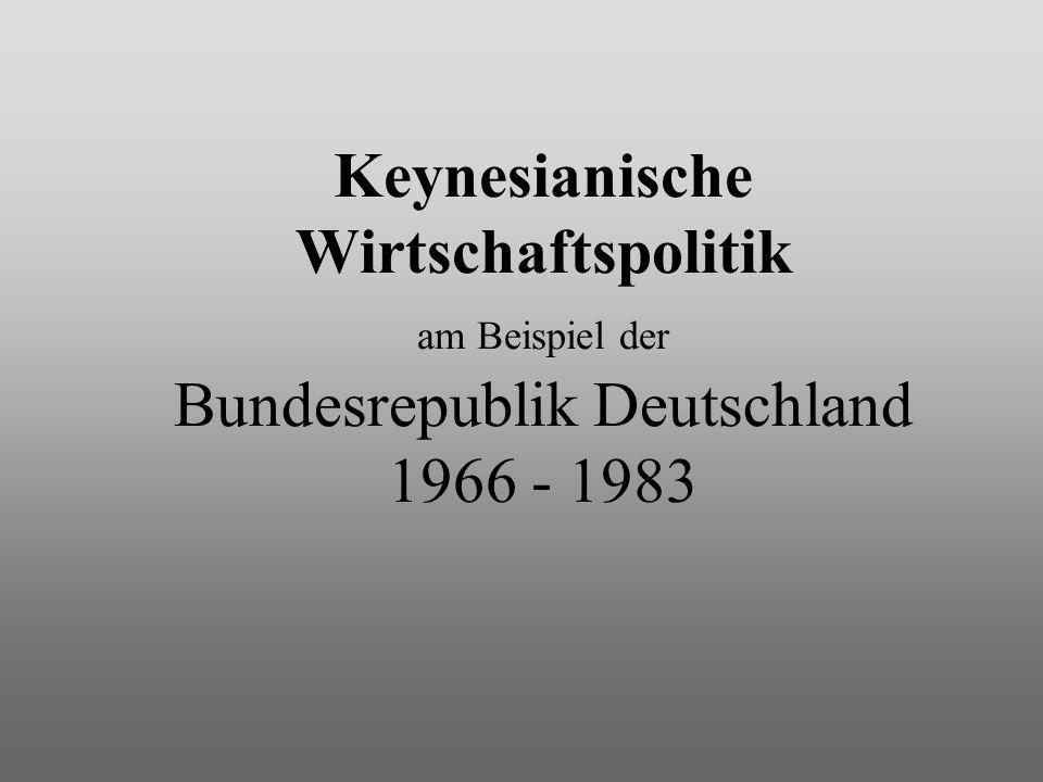 Keynesianische Wirtschaftspolitik am Beispiel der Bundesrepublik Deutschland 1966 - 1983