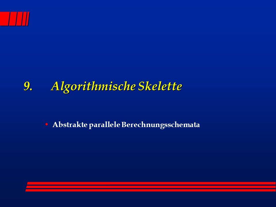 9. Algorithmische Skelette Abstrakte parallele Berechnungsschemata
