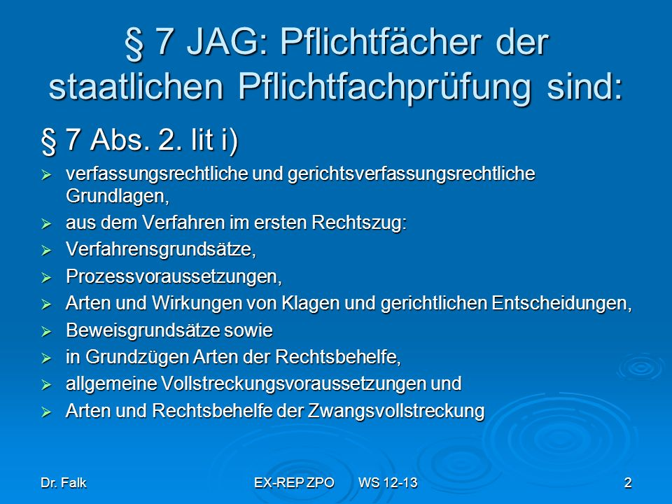 Dr.FalkEX-REP ZPO WS 12-1353 Zwangsvollstreckung wegen anderer Titel 3.