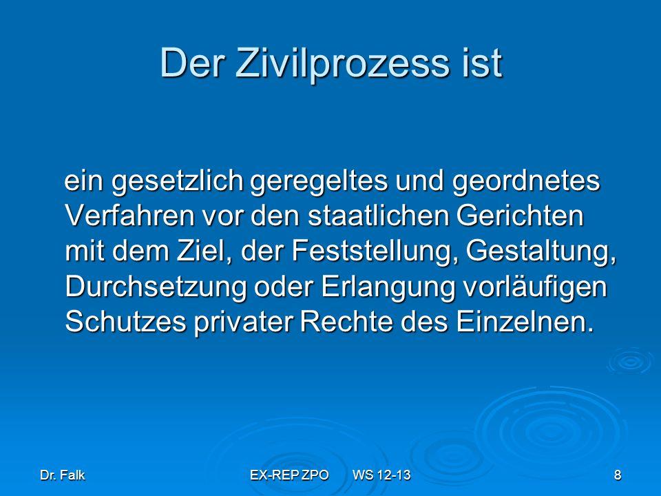 Dr.FalkEX-REP ZPO WS 12-1369 Konstellationen der Anfechtung 1.