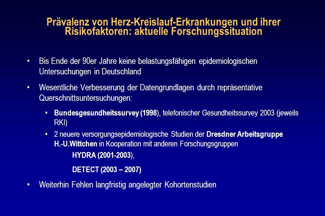 H.-U.Wittchen, München/Dresden E. Ritz (Heidelberg) B.