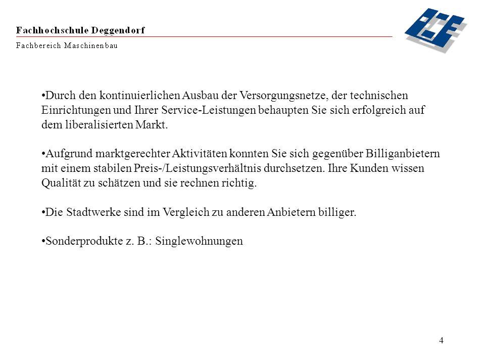 5 Eckdaten über die Stadtwerke Deggendorf Jährlicher Stromlieferumfang:163 Mio.