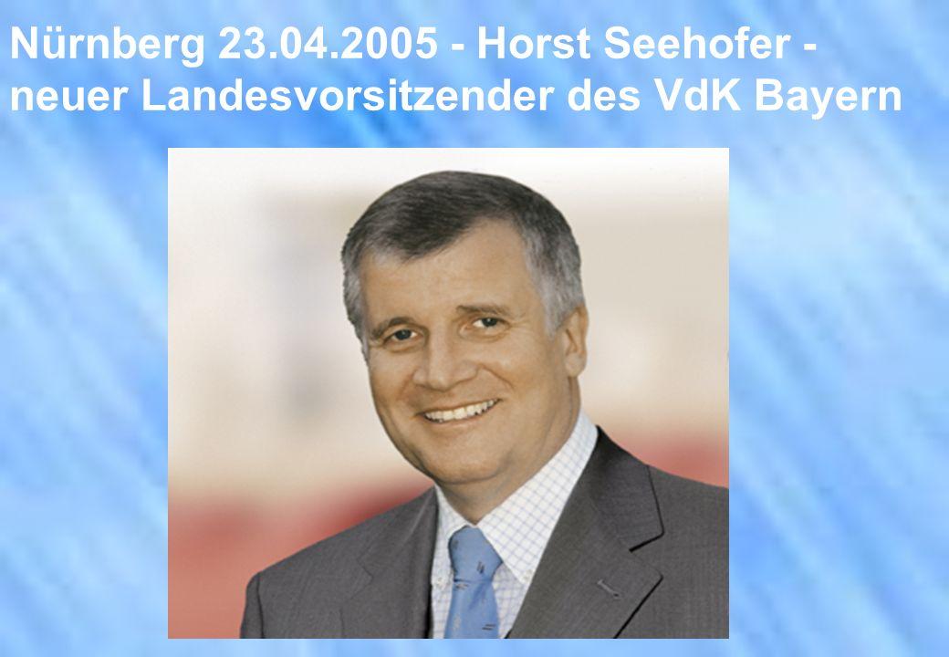 Nürnberg 23.04.2005 - Horst Seehofer - neuer Landesvorsitzender des VdK Bayern