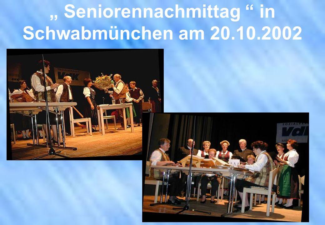 Seniorennachmittag in Schwabmünchen am 20.10.2002