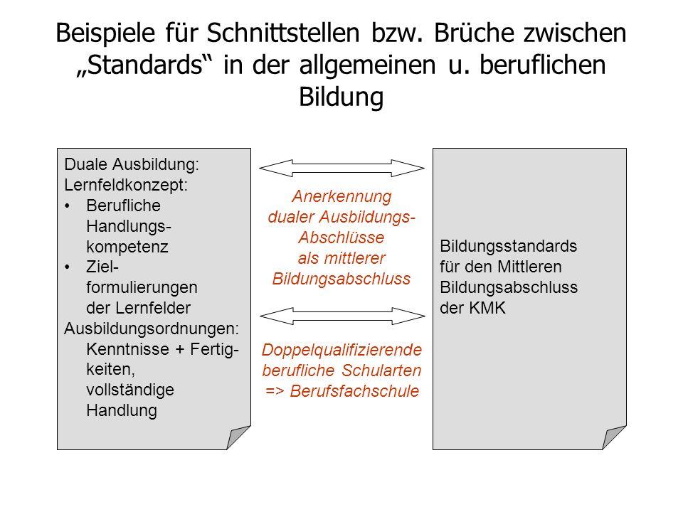 Konzeption von Standards in der allgemeinen Bildung konstituierende Elemente der Expertise Zur Entwicklung nationaler Bildungsstandards in Deutschland Kompetenzorientierung Fach– bzw.