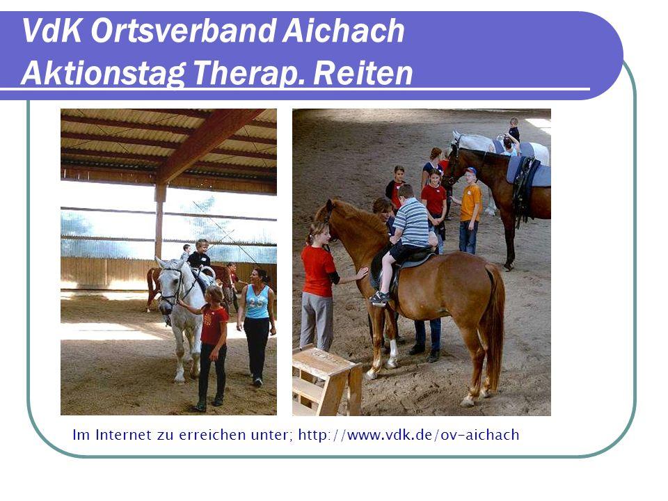 VdK Ortsverband Aichach Präsentationen 2-Altmühlfahrt Bis 2003 war Max Reichl Vor- sitzender des VdK Ortsverbandes in Aichach.
